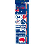 Reminisce - Passports Collection - Cardstock Stickers - Australia