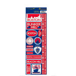 Reminisce - Passports Collection - Cardstock Stickers - Boston