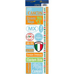 Reminisce - Passports Collection - Cardstock Stickers - Cancun