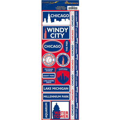 Reminisce - Passports Collection - Cardstock Stickers - Chicago