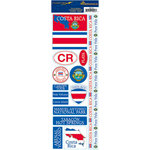 Reminisce - Passports Collection - Cardstock Stickers - Costa Rica