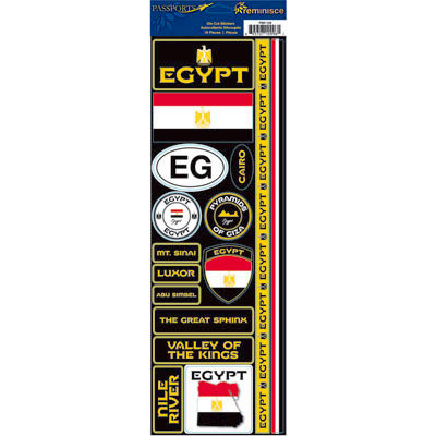 Reminisce - Passports Collection - Cardstock Stickers - Egypt