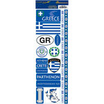 Reminisce - Passports Collection - Cardstock Stickers - Greece