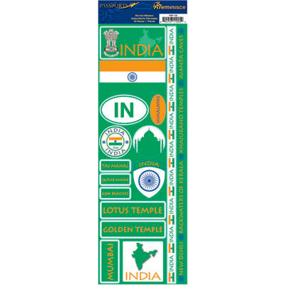 Reminisce - Passports Collection - Cardstock Stickers - India