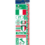 Reminisce - Passports Collection - Cardstock Stickers - Italy