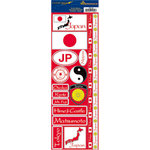 Reminisce - Passports Collection - Cardstock Stickers - Japan