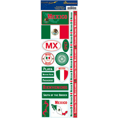 Reminisce - Passports Collection - Cardstock Stickers - Mexico