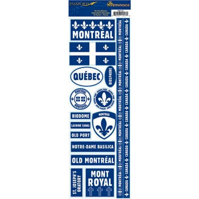 Reminisce - Passports Collection - Cardstock Stickers - Montreal