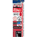 Reminisce - Passports Collection - Cardstock Stickers - New York City