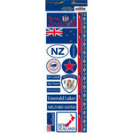 Reminisce - Passports Collection - Cardstock Stickers - New Zealand