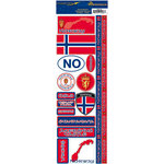 Reminisce - Passports Collection - Cardstock Stickers - Norway