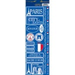 Reminisce - Passports Collection - Cardstock Stickers - Paris
