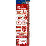 Reminisce - Passports Collection - Cardstock Stickers - San Francisco