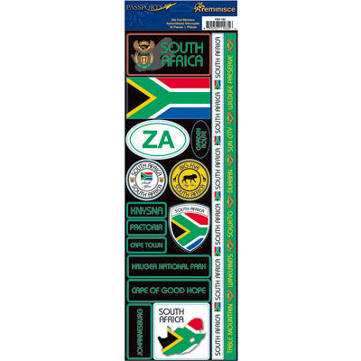 Reminisce - Passports Collection - Cardstock Stickers - South Africa