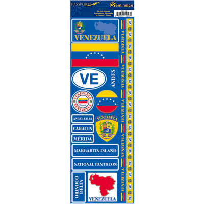 Reminisce - Passports Collection - Cardstock Stickers - Venezuela