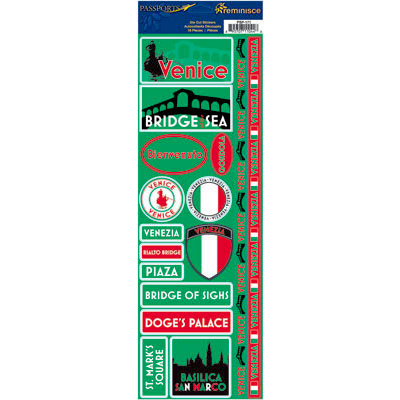 Reminisce - Passports Collection - Cardstock Stickers - Venice