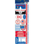 Reminisce - Passports Collection - Cardstock Stickers - Washington DC