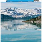 Reminisce - Customs Collection - 12 x 12 Single Sided Paper - Alaska Glacier