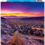 Reminisce - Customs Collection - 12 x 12 Single Sided Paper - Desert Sunset 1