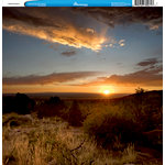 Reminisce - Customs Collection - 12 x 12 Single Sided Paper - Desert Sunset 2