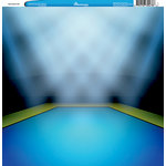 Reminisce - Customs Collection - 12 x 12 Single Sided Paper - Gymnastics Mat