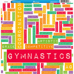 Reminisce - Customs Collection - 12 x 12 Single Sided Paper - Gymnastics