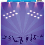Reminisce - Customs Collection - 12 x 12 Single Sided Paper - Gymnastics and Tumbling