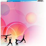 Reminisce - Customs Collection - 12 x 12 Single Sided Paper - Gymnastics and Tumbling 2