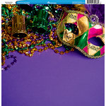 Reminisce - Customs Collection - 12 x 12 Single Sided Paper - Mardi Gras Party - New Orleans 1