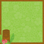 Reminisce - Luau Collection - 12 x 12 Double Sided Paper - Tiki Time