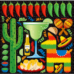 Reminisce - Fiesta Collection - 12 x 12 Cardstock Stickers - Icon