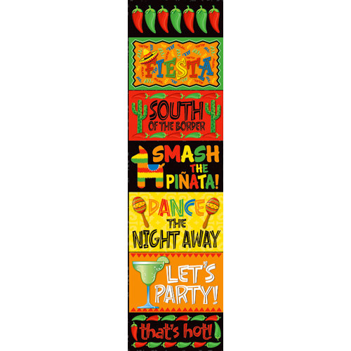 Reminisce - Fiesta Collection - Chipboard Stickers - Signs
