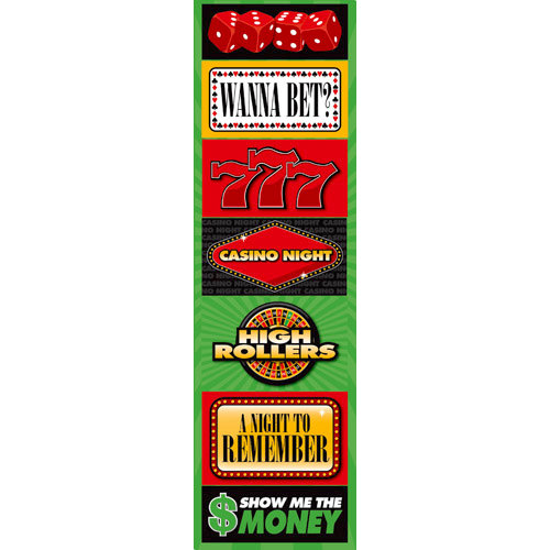 Reminisce - Casino Collection - Chipboard Stickers - Signs