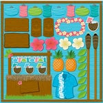 Reminisce - Luau Collection - 12 x 12 Cardstock Stickers - Icon