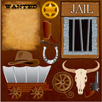 Reminisce - Western Collection - 12 x 12 Cardstock Stickers - Icon