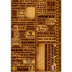 Reminisce - Western Collection - Die Cut Cardstock Stickers - Quote