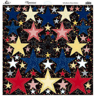 Reminisce - Real Magic Collection - 12 x 12 Glitter Stickers - Nested Star