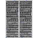 Reminisce - Real Magic Collection - Disney - Die Cut Cardstock Stickers - Black Mini Alphabet