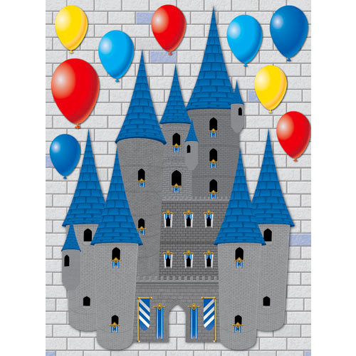 Reminisce - Real Magic Collection - Disney - 3 Dimensional Die Cut Stickers - Castle