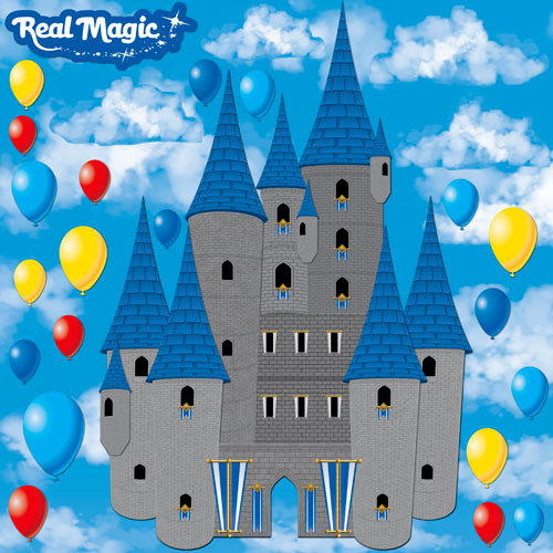 Reminisce - Real Magic Collection - Disney - 12 x 12 Dimensional Die Cut Stickers - The Royal Palace