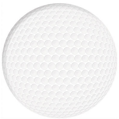 Reminisce - Real Sports Collection - 12 x 12 Textured Die Cut Paper - Golf Ball Die Cut