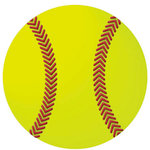 Reminisce - Real Sports Collection - 12 x 12 Textured Die Cut Paper - Softball