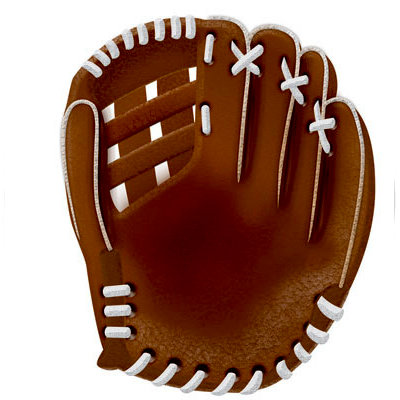 Reminisce - Real Sports Collection - 12 x 12 Textured Die Cut Paper - Baseball Glove