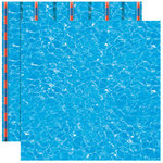 Reminisce - Real Sports Collection - 12 x 12 Double Sided Paper - Swimming Pool