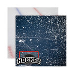 Reminisce - Real Sports Collection - 12 x 12 Double Sided Paper - Hockey