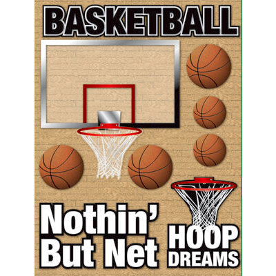 Reminisce - Real Sports Collection - 3 Dimensional Stickers - Basketball