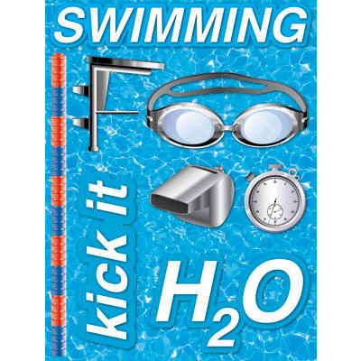Reminisce - Real Sports Collection - 3 Dimensional Stickers - Swimming
