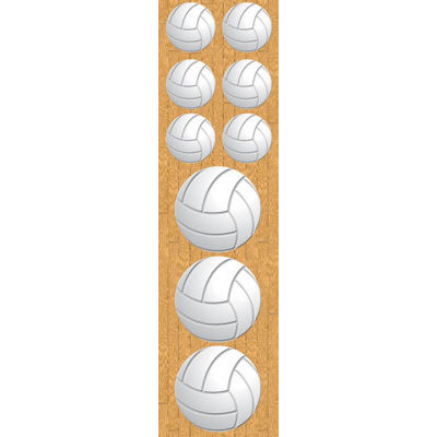 Reminisce - Real Sports Collection - Chipboard Stickers - Volleyball