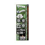 Reminisce - Real Sports Collection - Cardstock Stickers - Combo - Soccer