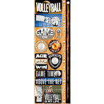 Reminisce - Real Sports Collection - Cardstock Stickers - Combo - Volleyball